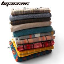 6e07705bb0221  BQACCES  2018 Winter Thick Warm Cashmere Like Scarves Women Tartan Plaid  Check Fringed Acrylic