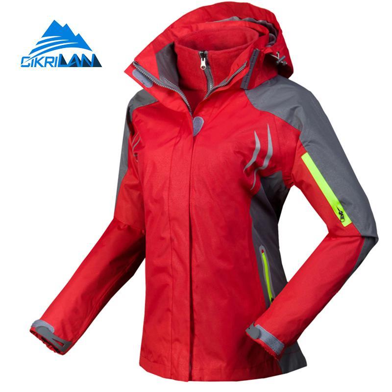 CIKRILAN Damen Softshelljacke Winddicht Wasserdicht Outdoor Sport Camping Wandern Jacke Fleecefutter Kapuze Mantel