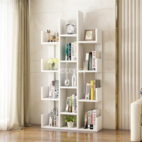 A 01 Simple Modern Bookcase Living Room Furniture Creative Land Wooden Storage Display Cabinet Bedroom Children Wooden Bookshelf