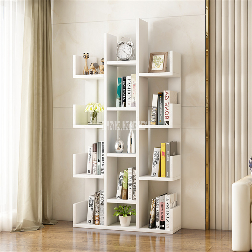 Bedroom:  A-01 Simple Modern Bookcase Living Room Furniture Creative Land Wooden Storage Display Cabinet Bedroom Children Wooden Bookshelf - Martin's & Co