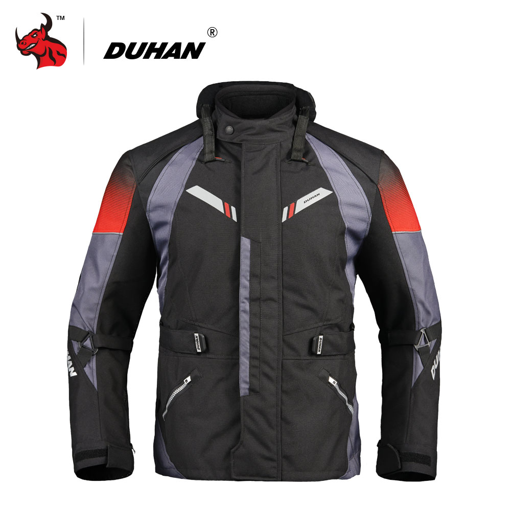 DUHAN Motorcycle Jacket Men Autumn Winter Touring Moto Jacket Protective Gear Waterproof Cold-proof Motorbike Clothing Black duhan motorcycle jacket motorcycle pants suit autumn winter cold proof waterproof touring chaqueta moto protective gear