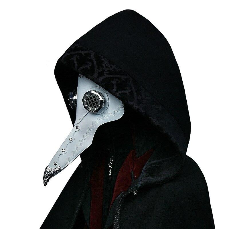 2019 nouveau cosplay masque steampunk métal accessoires Halloween fête peste oiseau masque