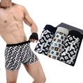 3PCS/Lot New Men's Ice Silk Boxers Shorts Sexy Breathable Man Underwear Soft U Pouch Underpants Panties Mesh Man Silk Boxers