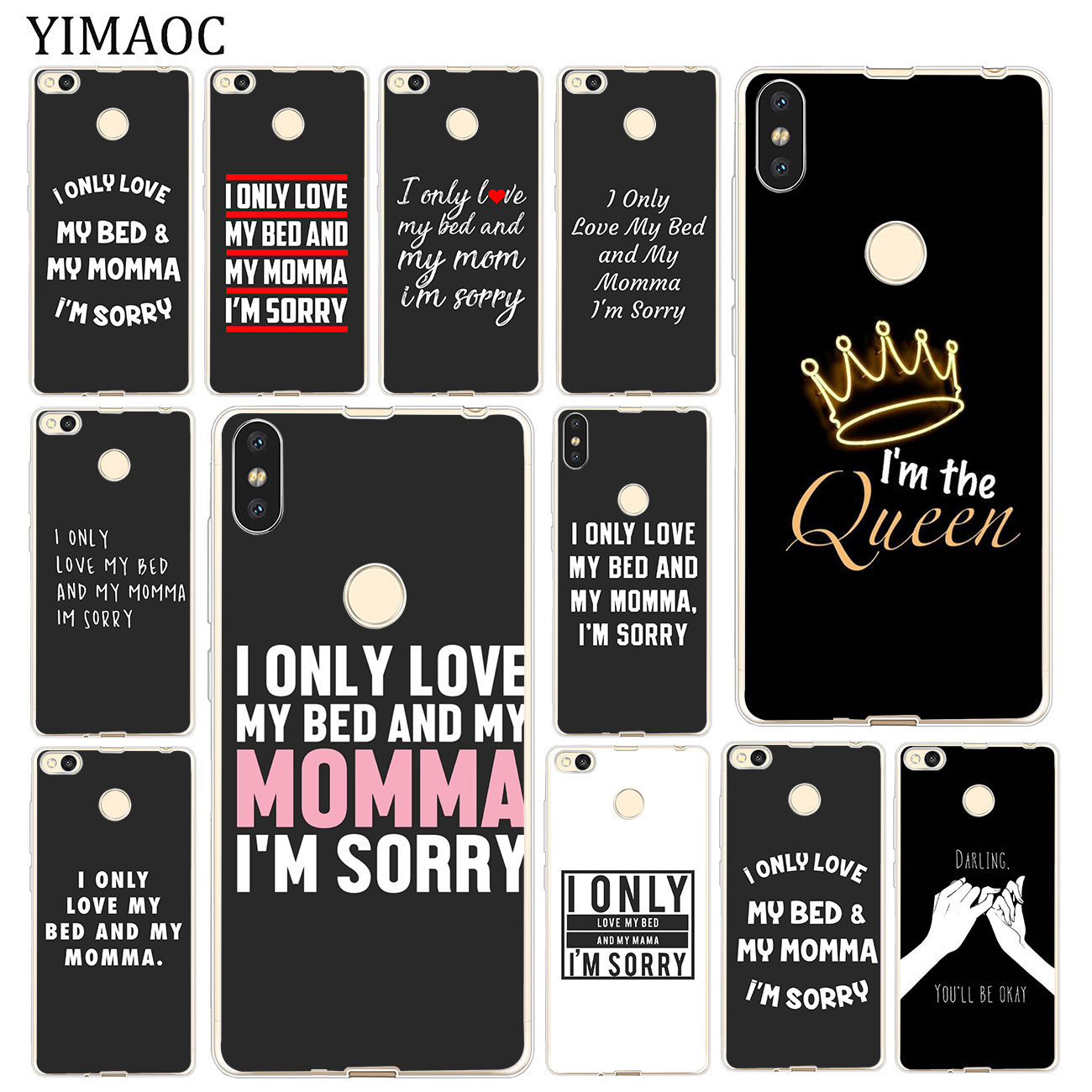 295299cf6 Detail Feedback Questions about I Only Love My Bed And My Mama I'm Sorry  Case for Xiaomi Mi 8 SE A2 Lite A1 MiX 2S Redmi 6A S2 4A Note 4 4X ...