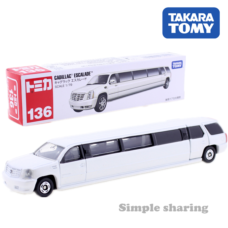 TAKARA TOMY TOMICA  No.136 CADILLAC ESCALADE 1:79 Limousine Mould CAR Diecast Miniature Car Toy Collectibles Hot Pop Baby Toys