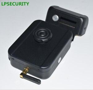 Image 4 - LPSECURITY питание от аккумулятора 4 пульта дистанционного управления беспроводные наружные ворота дверь замок Электрический Болт замка (батарея в комплект не входит)