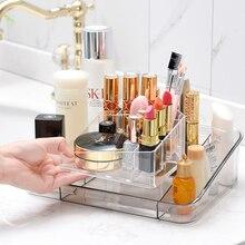 050 Multi-function Acrylic transparent desktop cosmetics storage box makeup case 25*18.5*7cm