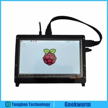 Geekworm Raspberry Pi 3 Model B 7 Inch 1024*600 TFT Capacitive Touch Screen + Acrylic Stander + HDMI Cable + USB Cable Kits