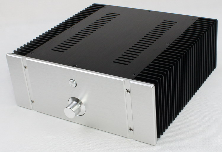 WF1176 Full Aluminum Power Amplifier Enclosure DAC Chassis Preamp Case Suitable For Class A Amplifier Board 312*323*120mm wf1187 full aluminum audio amplifier chassis preamp enclosure tube amp box dac case 326 82 245mm with aluminum machine feet