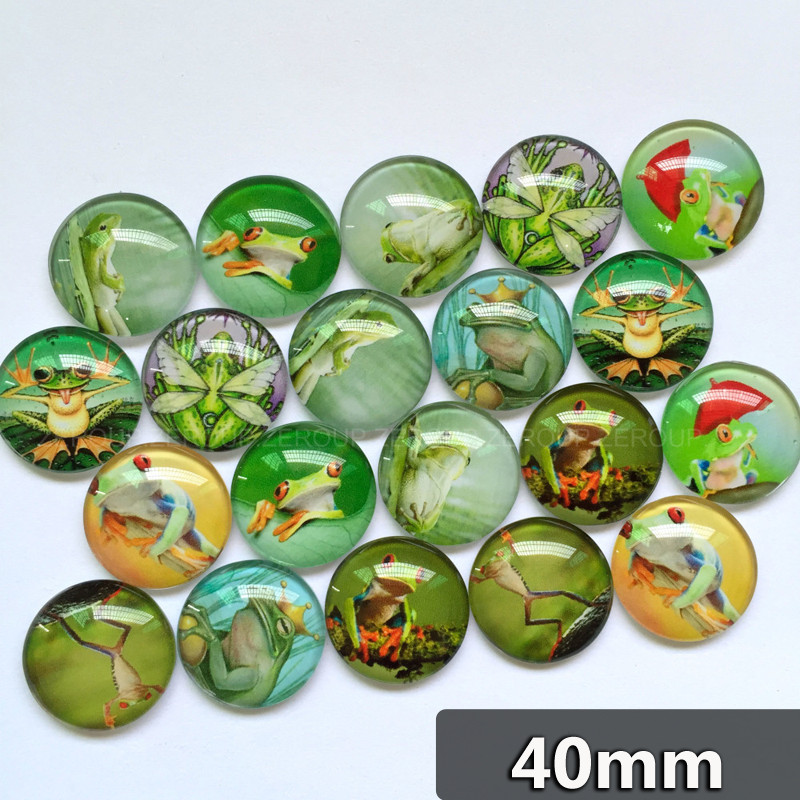 ZEROUP 40mm Handmade Photo Glass Cabochons Mixed Pattern Domed Round Jewelry Accessories Supplies For Jewelry 5pcs/lot TP-328-R