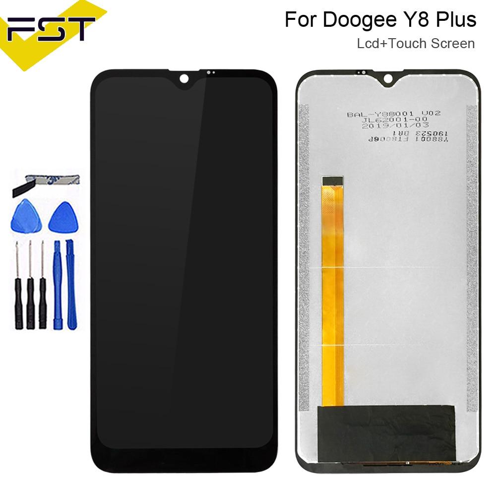 6.21 ''pour Doogee Y8 Plus écran LCD et écran tactile pièces de réparation d'assemblage numériseur avec outils et adhésif pour Doogee Y8 Plus
