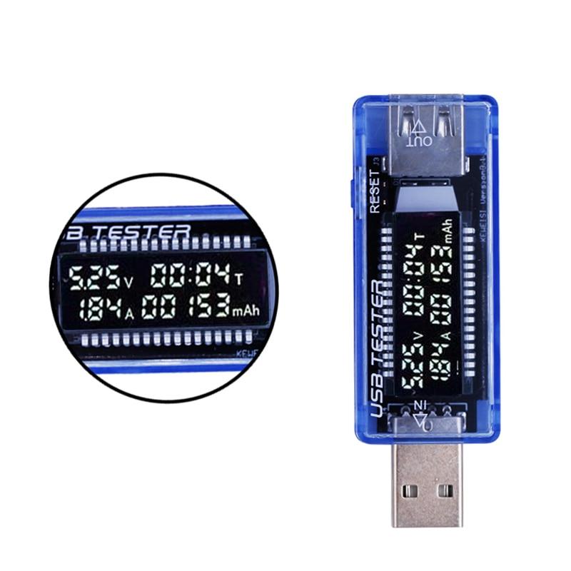 Skystųjų kristalų voltmetro USB QC2.0 įkroviklio talpos srovės detektoriaus įtampos testeris Metro voltmetro mobiliojo telefono galios bankui 20% nuolaida