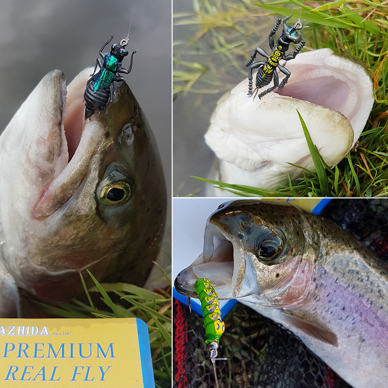 Image 4 - Promo Ultra Fly Fishing flies Set Dry Wet Nymph streamer fly lure tying material kit fishing box carp trout pike-in Fishing Lures from Sports & Entertainment