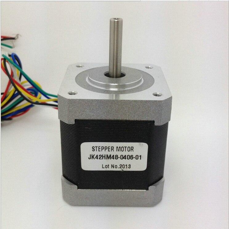 3pcs 0.9 degree Nema 17 stepper motor 42HM48-0406 with 6 wires/0.4A/12 V /0.31N.M  CNC Mill Cut Engraver /3D printer 3pcs nema 17 stepper motor jk42hs60 1206 1 8 degree with 4 wires 1 2a 0 5nm cnc mill cut engraver 3d printer