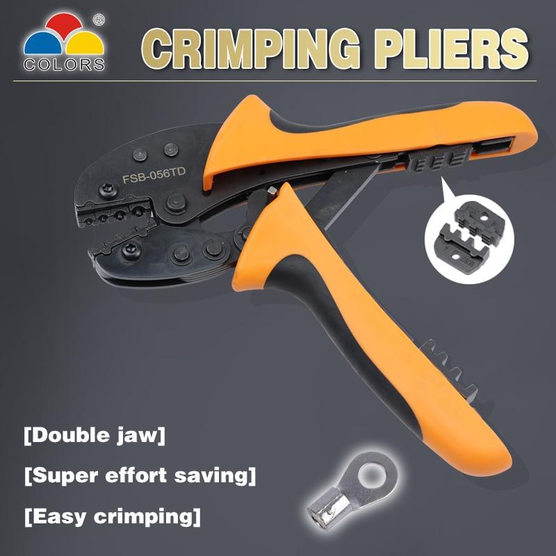 Купить с кэшбэком COLOR crimping tool pliers crimper kablo kesici pliers cable tools crimp plier wire cutter crimpador mini 0.5-4mm