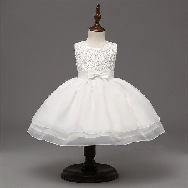 New Sleeveless Formal Newborn Dress Clothes Bow Pattern Infant ...