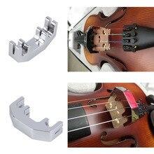 TSAI мини-скрипичная практика(без звука) металлическая Серебряная скрипка бесшумный глушитель скрипка металлический глушитель дизайн для скрипичных проигрывателей практическое использование