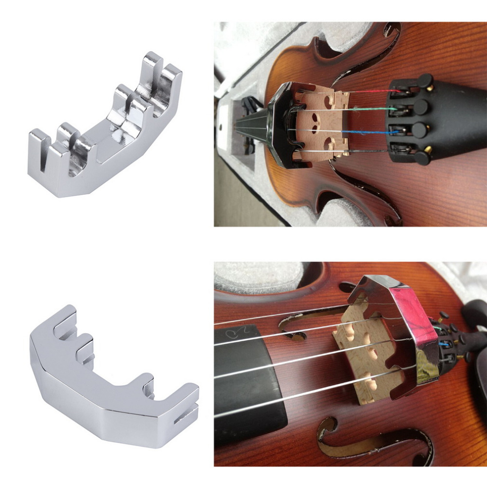 Volume Control Mute Silencer Fingerboard Five Claw Round Mute Violin Accessories Set Kit Musical Instruments