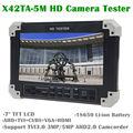 """Бесплатная доставка! X42TA-5M 7 """"TFT LCD HD-TVI3.0 + AHD2.0 + HDMI + VGA + CVBS Камера Видео Монитор тестер"""