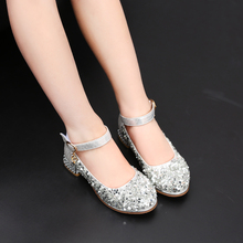 Girls Sandals Children Princess Shoes Beading Glitter Party Dress Shoes For Girls Baby Kids 2018 toddler girls princess crystal rhinestone sandals little kid glitter sequin pumps big children pageant dancing dress shoes