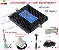 Conjunto completo o Mais Novo Controle de Ganho GSM Repetidor GSM980 900 mhz Celular Signal booster GSM Repetidor de sinal Amplificador Telefone Celular + antena