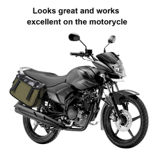 For Honda Motorcycle Rear Seat Bags Saddle Bag Saddlebags Equine Back Pack Canvas Luggage Vintage