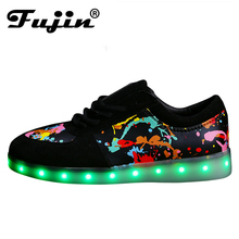 Women men Colorful glowing shoes lumineuse with usb light up charger led luminous shoes simulation sole led shoes for adults