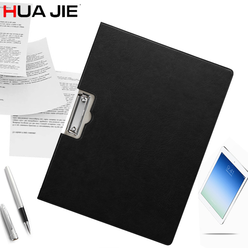 HUA JIE A3 Clipboard File Folders Writing Document Hardboard Leather Tablet Desk Blotter Mat File Folder for Music Score/Drawing