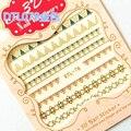 Moda 3D Mix Nail Art Puntas de la raya geométrica Pegatinas Tatuajes de Estampación DIY Manicura Decoración M02236