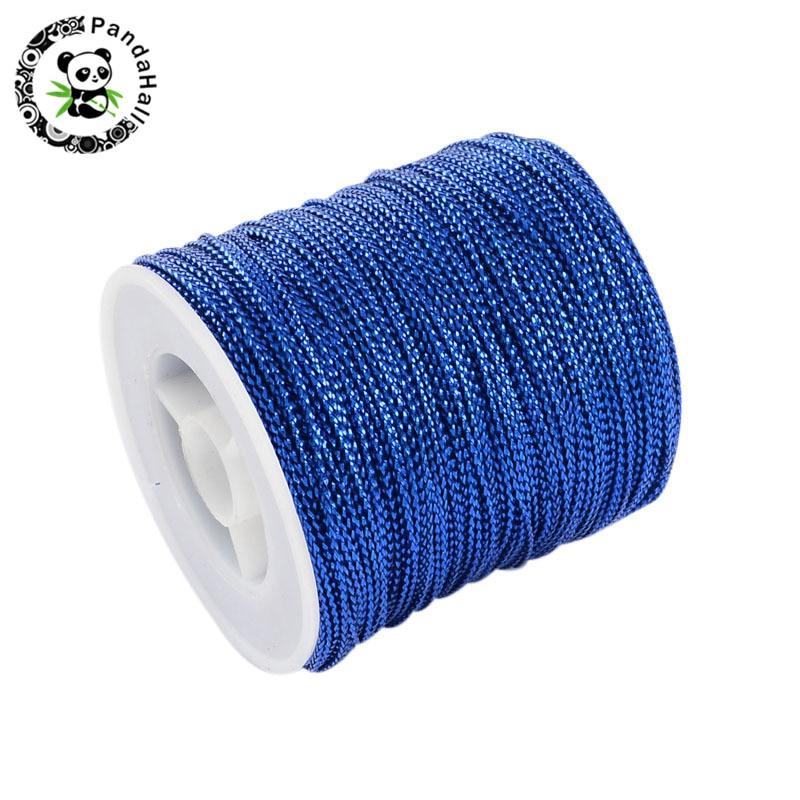 arricraft 1 Roll 0.5mm Braided Nylon Cord Imitation Silk String Thread for DIY Craft and Jewelry Making