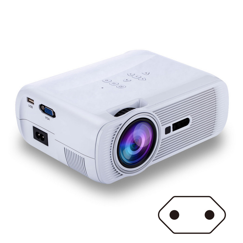 EU Plug LED Video Projector with Free HDMI Support 1080P for Home Cinema Theater TV Laptop Game Smartphones New XXM8 fast free ship for gameduino for arduino game vga game development board fpga with serial port verilog code