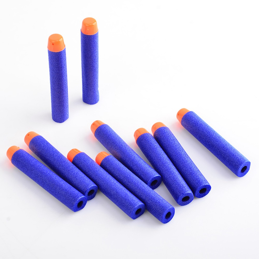 100PCS Nerf Bullets Soft Hollow Hole Head 7.2cm Refill Darts Toy Gun Bullets for Nerf Series Blasters