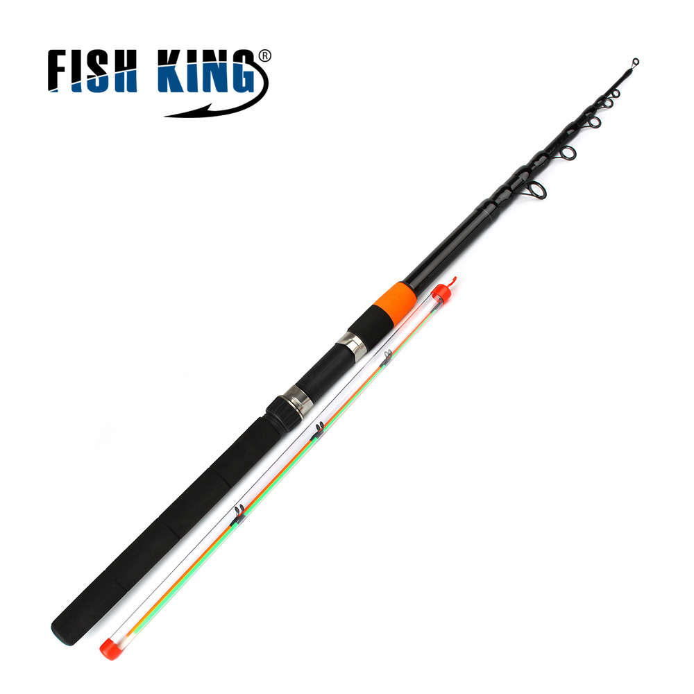 Fish King Feeder rod C.W 120g Extra Heavy Telescopic Fishing Feeder Rods 3.0m-3.9m 2 Section 60% Carbon Fiber free shipping high carbon 3 6m 3 9m cw150g cw180g cw230g 3 3 section feeder fising rods cork handle fishing feeder feeder rods
