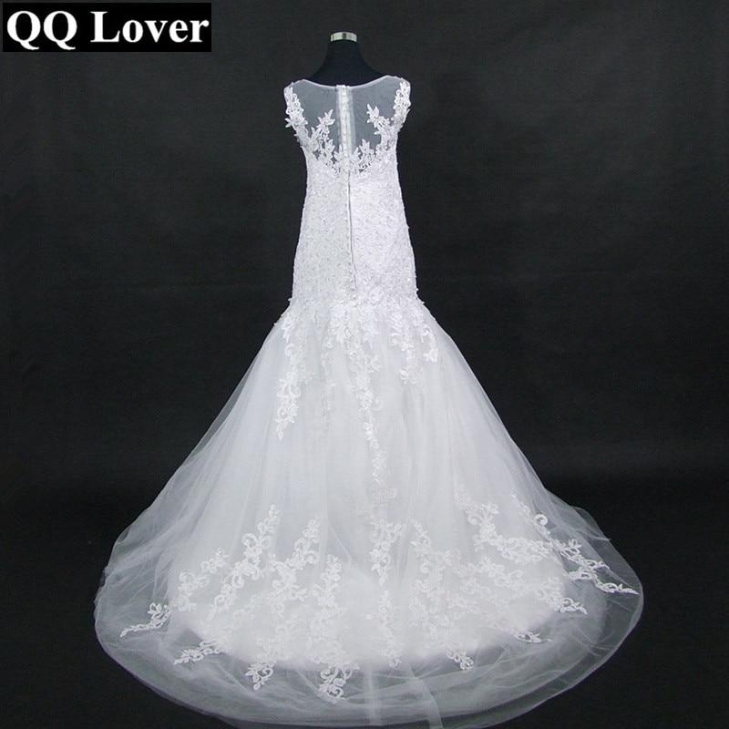 QQ Lover 2019 Off the Shoulder Mermaid Wedding Dress New