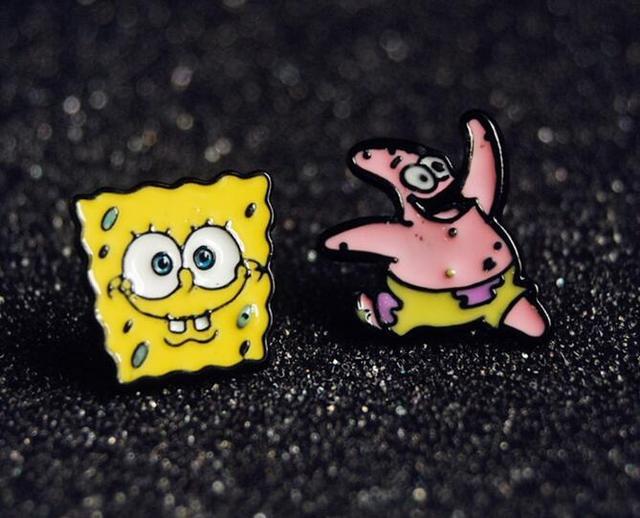 54ca2912d9e17 SpongeBob SquarePants Cute Anime Stud earrings for Women Women Accessories  Anime Cartoon Lovely Animal anime Eastuds