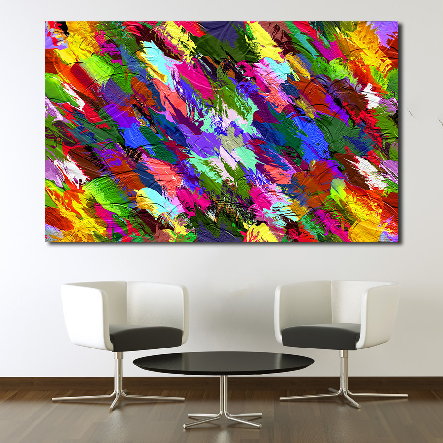 Splash Colorful Room Wall: JQHYART Fashion Oil Painting Color Splash Abstract Wall