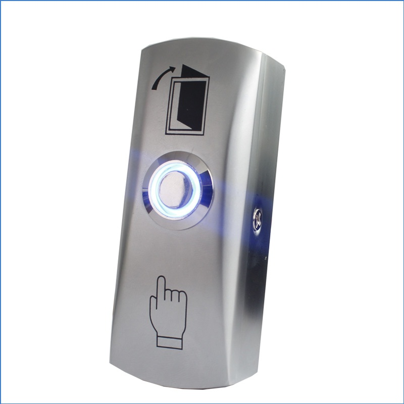Exit Button For Access Control Zinc Alloy Material The Bottom Box Door Push Exit Door Release Button Switch