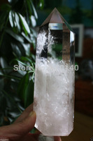 00R080504 Large Clear Smoky Quartz Natural Point Cluster Crystal Rough Healing