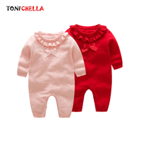 Cute Knitting Baby Girls Rompers Cotton Solid Color Long Sleeve Jumpsuit Newborn Autumn Winter Infant Boys