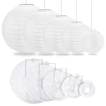 """30 pcs 4""""-12"""" White Paper Lanterns Chinese lanterne papier lampion Wedding Babyshower Party Halloween Hanging Diy Decor Favor 1"""