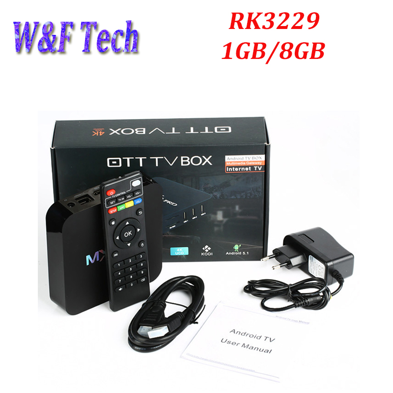 Lot  MXQ Pro RK3229 TV Box 8G Quad Core Wifi Android 7.1 Smart Media Player