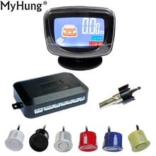 Parking Sensor Car LCD Display LCD 4 Reverse Parking Sensors Backup Radar Detector System Kit For All Car 1set