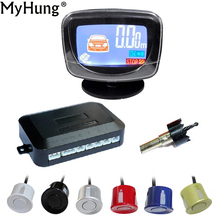 Parking Sensor Car LCD Display LCD 4 Reverse Parking Sensors Backup Radar Detector System Kit For All Car 1set