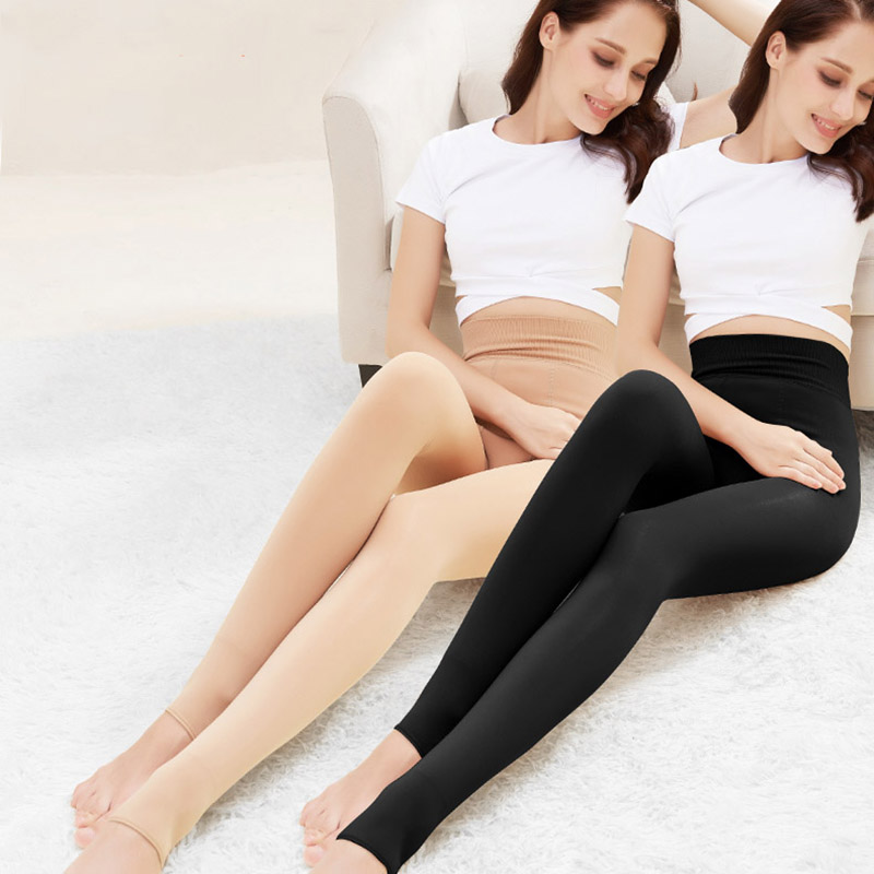Feilibin Winter New Warm Leggings Women Warm Leggings High Waist Thick Velvet Legging Solid Leggings Women Warm Thermos Pants