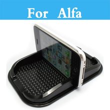 Anti Slip Mat GPS Phone Holder Non-Slip Mat Pad For Alfa Romeo 166 147 156 159 4C 8C Brera