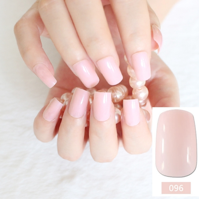Flat curved false nails beautiful light pink nail art acrylic tips flat curved false nails beautiful light pink nail art acrylic tips press on nails full prinsesfo Image collections