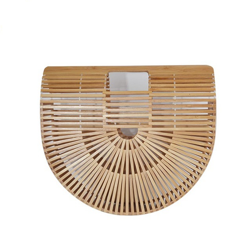 Chinese style Summer Bamboo Bag Women Beach Bag Female Handmade Woven Beach Handbags Bamboo Totes Travel Hand Bags bolso bambu 2 pin disc ceramic capacitor set blue 6 pcs