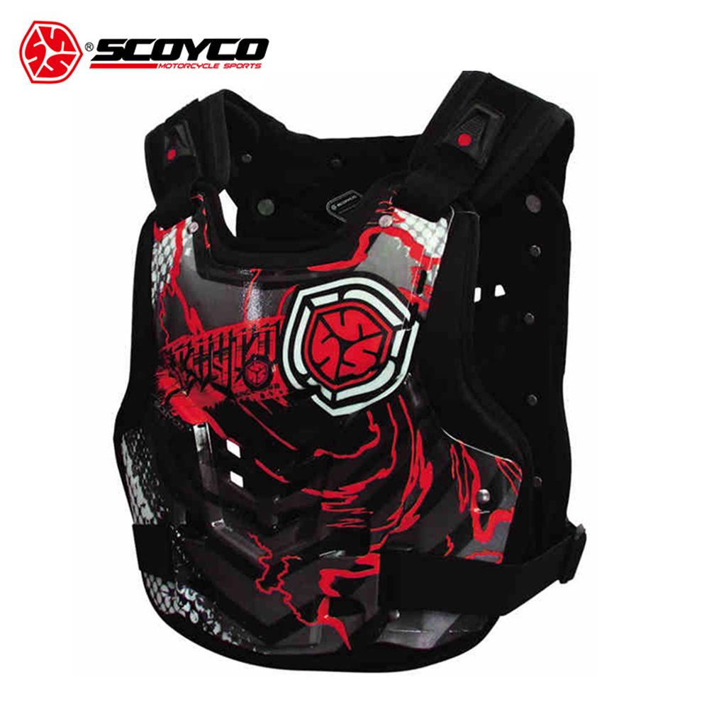 SCOYCO Men's Motorcycle Armor Moto Protector Motocross Armor Vest Body Protector Motorbike Vest Chest Back Protective Gear scoyco motorcycle motocross chest back protector armour vest racing protective body guard mx jacket armor atv guards race moto