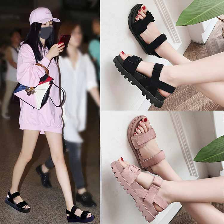 Women shoes adult solid sandals women 2019 fashion med heel height women sandals flat with casual shoes woman sandals female  (18)