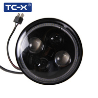 TC X 7 Inch Round LED Headlight With For Jeep Wrangler Motorcycle BMW Harley Davison Yamaha
